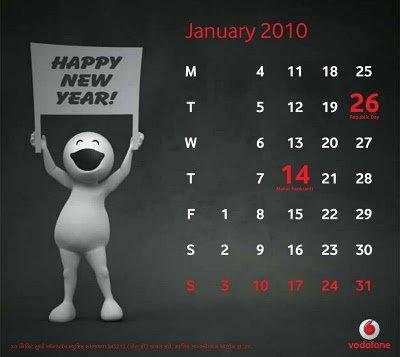 2011 Calendar Zoozoo. January 2010 Vodafone Zoozoos