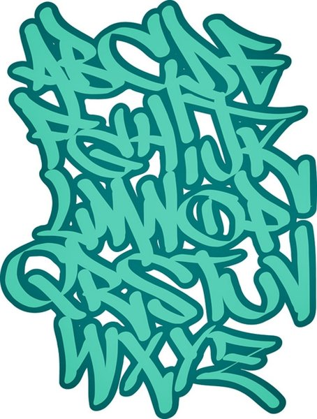 graffiti fonts letters. graffiti