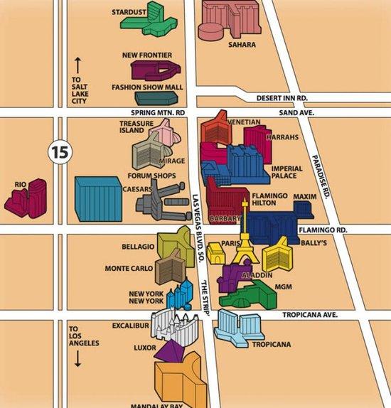 Map of Las Vegas Nevada Vegascom