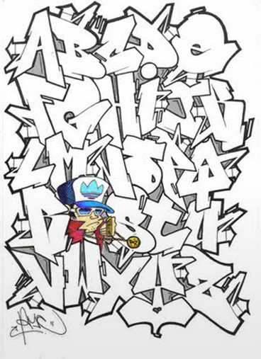 How To Draw Graffiti Letters Az - All About Design Letter